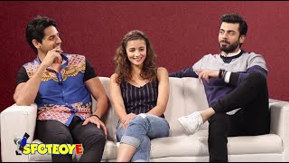 getlinkyoutube.com-Alia, Sidharth & Fawad get CANDID about their families | SpotboyE Exclusive Interview Kapoor & Sons