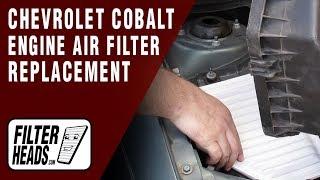 getlinkyoutube.com-Engine Air Filter Replacement - Chevrolet Cobalt L4 2.2L