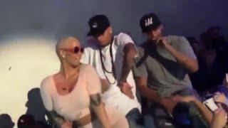 Amber Rose twerk sur Chris Brown