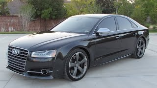 getlinkyoutube.com-2015 Audi S8 4.0T Quattro Start Up, Quick Drive, and In Depth Review