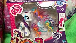 getlinkyoutube.com-*NEW* Rarity MLP Friendship Flutters with Breezies & Zapcode for My Little Pony App Review Unboxing!