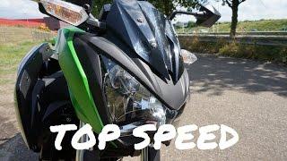 Kawasaki Z300 my top speed with Akrapovic exhaust