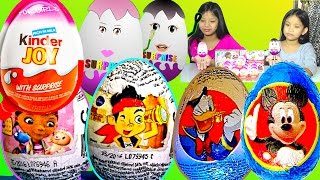 Barbie Kinder Surprise Eggs Disney Mickey Mouse Doc McStuffins Zaini Surprise Eggs - Kids' toys