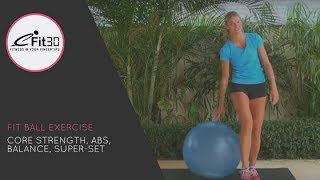getlinkyoutube.com-Fit ball CORE STRENGTH - ABS WORKOUT