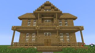 getlinkyoutube.com-Minecraft - How to build a Wooden House