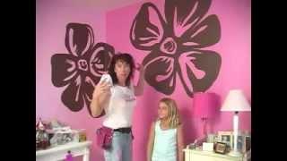 getlinkyoutube.com-Cara lukis mural motif di tembok kamar