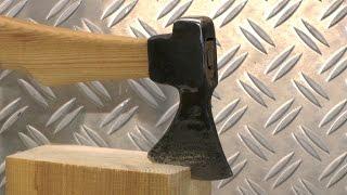 getlinkyoutube.com-Schmiede eine kleine Axt aus einem Hammer. Forging small Axe