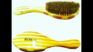 getlinkyoutube.com-**NEW**  RIMIX BRAZILIAN BAMBOO STRIPED CURVED WAVE BRUSH **SUMMER 16**