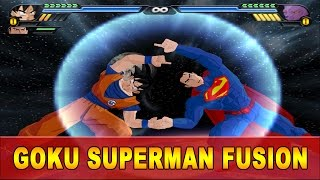 getlinkyoutube.com-Goku and Superman Fusion | Gok-El vs Beerus | DBZ Tenkaichi 3 (MOD)