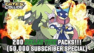 getlinkyoutube.com-Pokémon Cards - Opening 200 Fates Collide Dollar Tree Packs! | 50,000 YouTube Subscriber Celebration