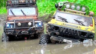 getlinkyoutube.com-OFF Road MUD - Hummer H2 vs Land Rover Defender vs Jeep Wrangler Rubicon - Очень грязное видео :)