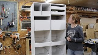 getlinkyoutube.com-Building a Freestanding Pantry with Pull Out Drawers