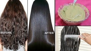 How to straighten Hair Naturally at home within 15 minutes ! |100% Works | 3 Ingredients.