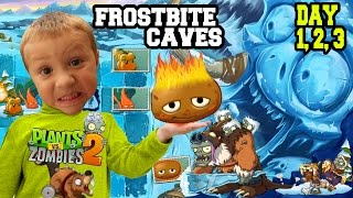 getlinkyoutube.com-Dad & Kids play PVZ 2 Frostbite Caves: HOT POTATO! Day 1, 2 & 3 (EPIC UPDATE w/ CRAZY CHASE!)