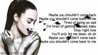 getlinkyoutube.com-Demi Lovato - Shouldn't Come Back [Lyrics On Screen]