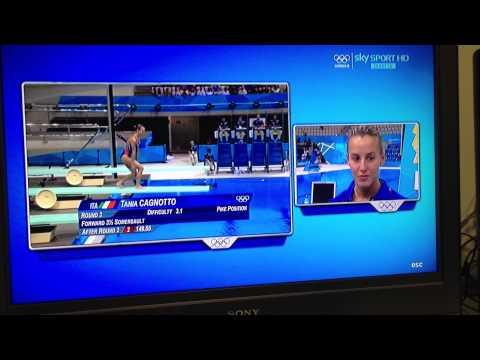 Intervista a Tania Cagnotto dopo la semifinale da 3 metri alle Olimpiadi di Londra 2012