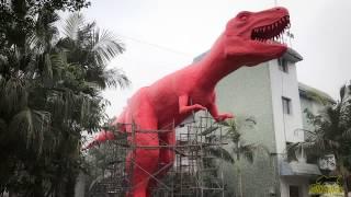 Making Progress of Gaint Cartoon T-Rex Model
