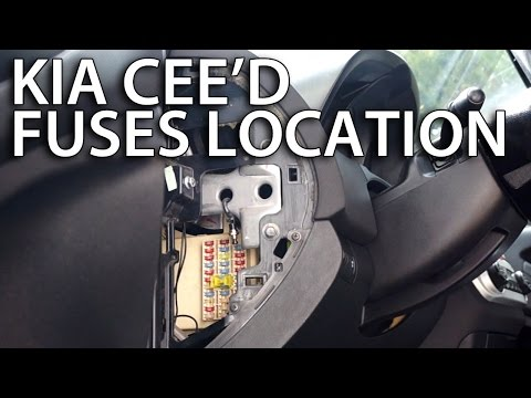 Where are fuses and relays in Kia Cee'd (how to find location)