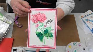 #194 Learn Watercoloring Daniel Smith, Prima & Sizzix by Scrapbooking Made Simple
