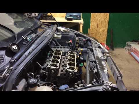 Снятие 16 клапанной головки Peugeot 307 TU5JP4