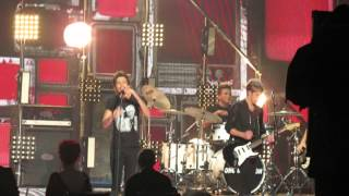 X Factor Live Final - One Direction singing Midnight Memories width=