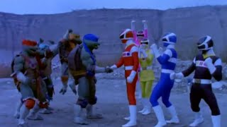 Power Ranger En El Espacio y Las Tortugas Ninja team-up