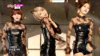 getlinkyoutube.com-[HOT] AOA - Like a Cat, 에이오에이 - 사뿐사뿐, Show Music core 20141206