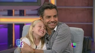 getlinkyoutube.com-Eugenio Derbez y Loreto Peralta orgullosos de 'Instructions not included' - El Gordo y La Flaca