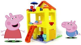 getlinkyoutube.com-Обзор конструктора Любимый дом Свинки Пеппы (Peppa Pig Peppa's House)