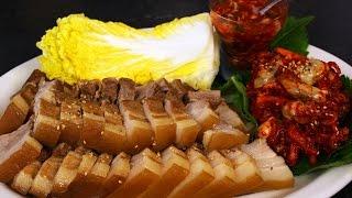 getlinkyoutube.com-Pork wraps (Bo-ssam: 보쌈)