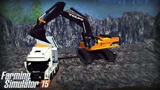 getlinkyoutube.com-Farming Simulator 15: Volvo EC700B (Mining & Construction Economy mod)