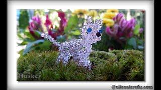 getlinkyoutube.com-Swarovski Crystal Husky (dog) Part 1