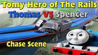 getlinkyoutube.com-Tomy Hero of The Rails: Thomas vs. Spencer Chase Scene