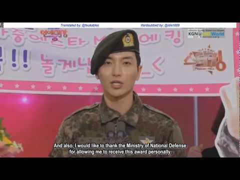[ENG SUB] 121230 SBS Entertainment Awards - LeeTeuk Thank You Speech