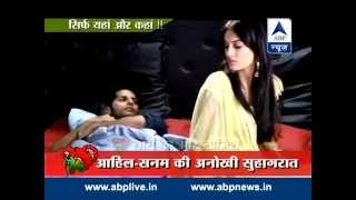 getlinkyoutube.com-Aahil and Sanam fighting for blanket on Suhagrat!