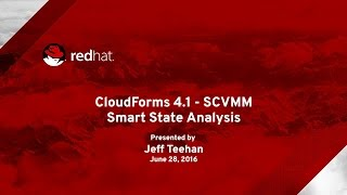 CloudForms 4.1 Smart State Analysis - SCVMM