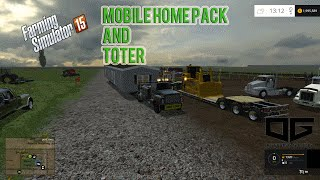 getlinkyoutube.com-Farming Simulator 2015- Mobile Home Hauling!