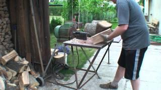 getlinkyoutube.com-Homemade log splitter from scrap | Savadarbė malkų skaldyklė, pagaminta iš atliekų.