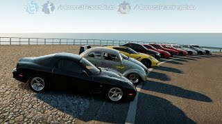 getlinkyoutube.com-Forza Horizon 2 (XB1) | 4 Rotor FD RX7 Build | Street Car Meet, Cruise, & Airstrip Roll Racing