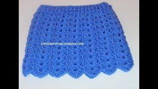 Crochet baby skirt tutorial. Crochet doll skirt step by step