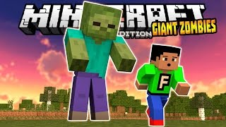 getlinkyoutube.com-GIANT ZOMBIES in MCPE 0.14.0!!! - Different Size Zombies Mod - Minecraft PE (Pocket Edition)