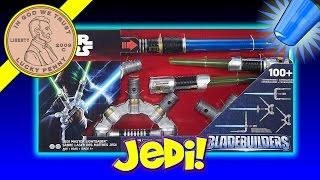 getlinkyoutube.com-Disney's Star Wars Jedi Master Lightsaber BladeBuilders Set