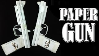 getlinkyoutube.com-How to Make a Paper Gun That Shoots - ( Rubber Band Paper Gun with Trigger )