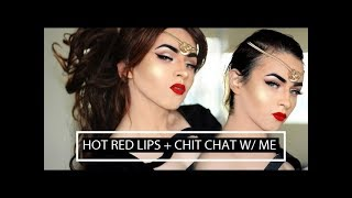 getlinkyoutube.com-HOT RED LIPS MAKE-UP TUTORIAL 2017 | CLASSIC RED LIPS | TRANSFORMATION BOY TO GIRL  | ADRIAN HILLS
