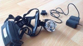getlinkyoutube.com-#8 CREE XML T6 LED Headlamp Headlight 1600 lumen 18650