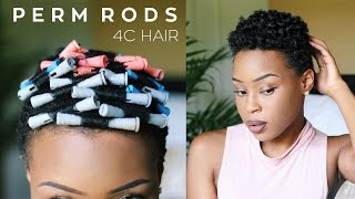 getlinkyoutube.com-THE BEST Heatless Perm Rod Set on Tapered 4C TWA