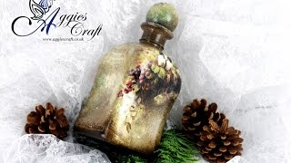 getlinkyoutube.com-Decoupage Tutorial - Vintage Bottle - DIY Tutorial
