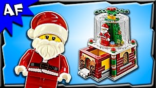 getlinkyoutube.com-Lego Christmas SNOW GLOBE Holiday Limited Edition 40223 Stop Motion Build Review