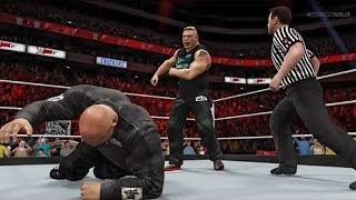 getlinkyoutube.com-Brock Lesnar confronts Goldberg on Monday Night Raw! (WWE 2K17 Custom Storyline)