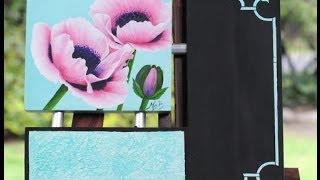 getlinkyoutube.com-Pintar flores - Acrilicos - Mabel Blanco